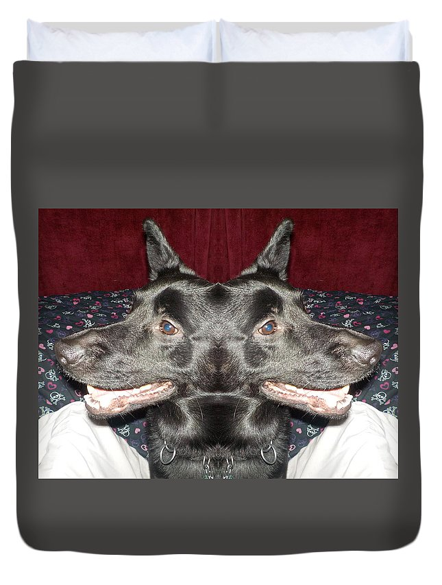 Dog Duvet Cover featuring the photograph Silly Dog by Lynn Sobecke