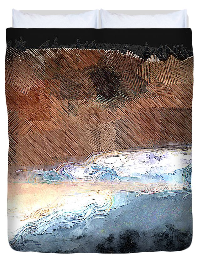 Ebsq Duvet Cover featuring the photograph Silver Beach by Dee Flouton