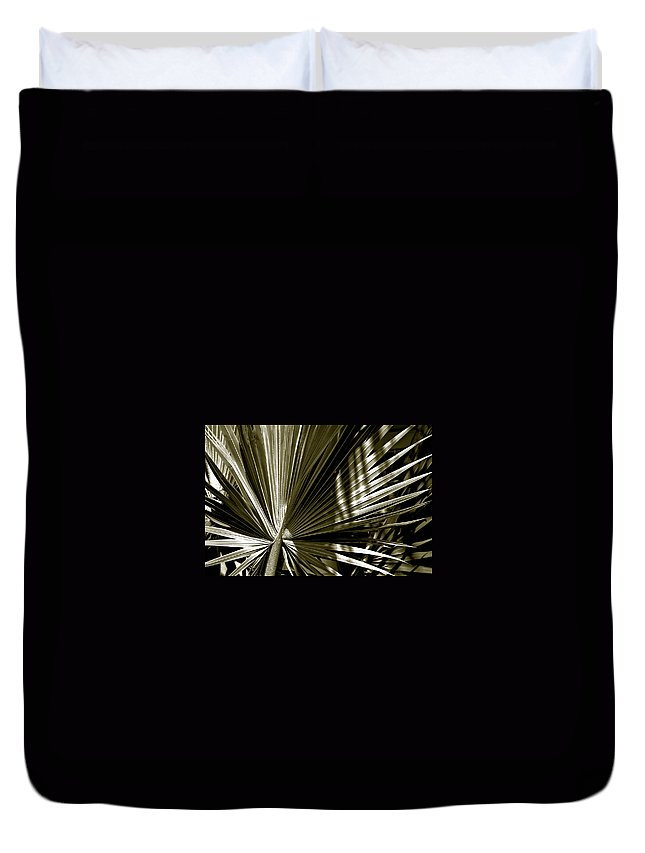 Photography Duvet Cover featuring the photograph Silver Palm by Susanne Van Hulst