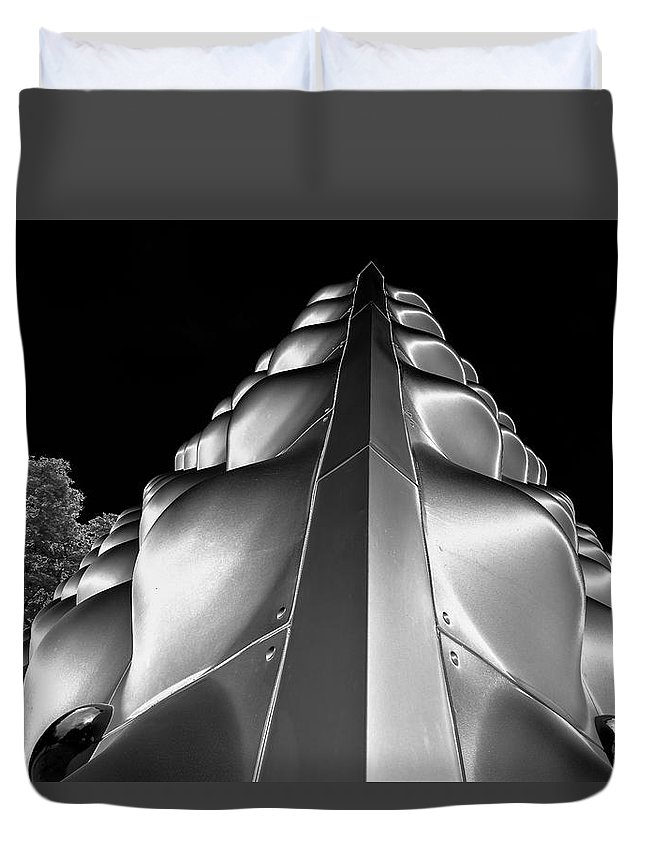 Future Sensations Duvet Cover featuring the photograph Silver Triangle by Louis Dallara
