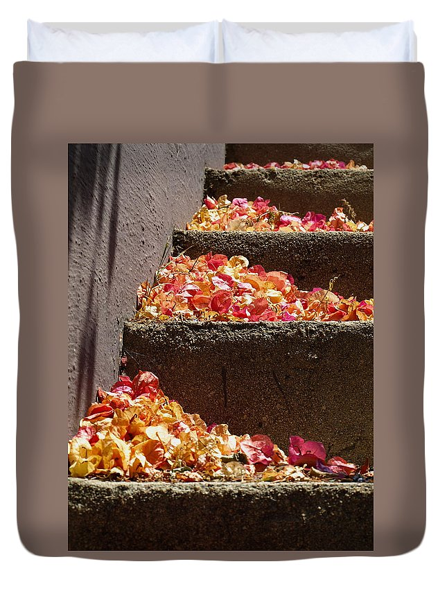 Silverlake Duvet Cover featuring the photograph Silverlake Steps by Gia Marie Houck