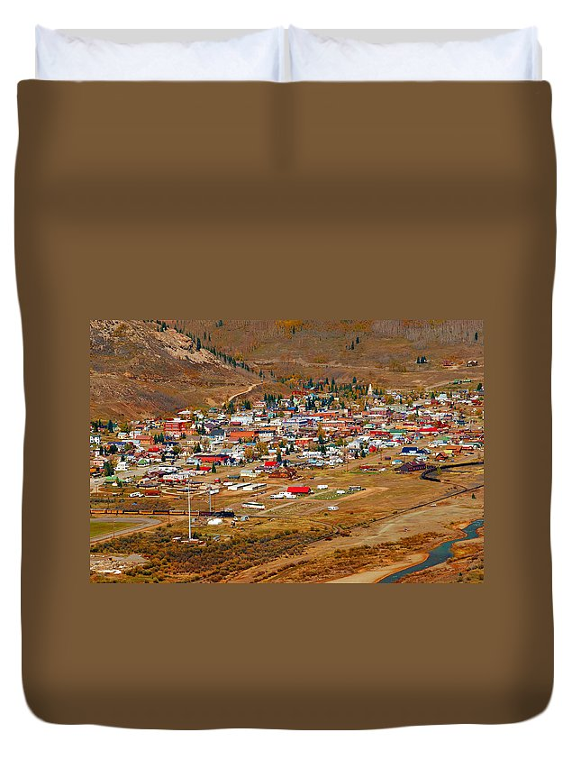 Silverton Colorado Duvet Cover featuring the photograph Silverton Town Site by David Lee Thompson