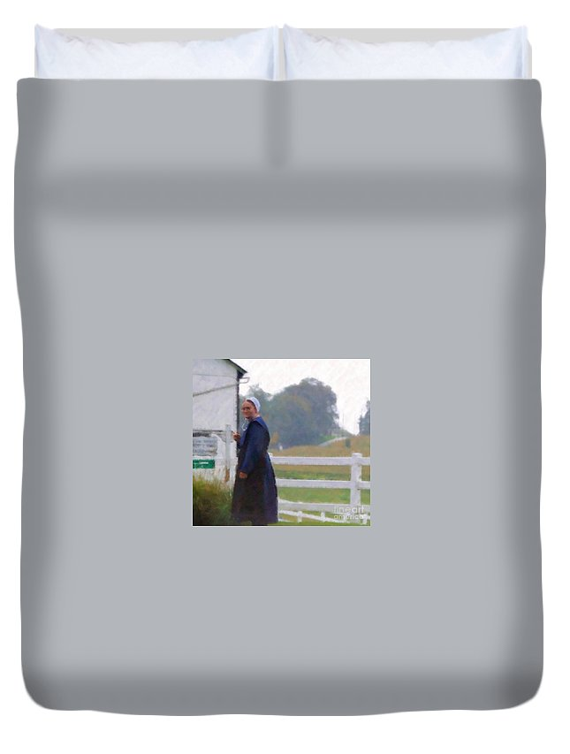 Amish Duvet Cover featuring the photograph Simple Living by Debbi Granruth