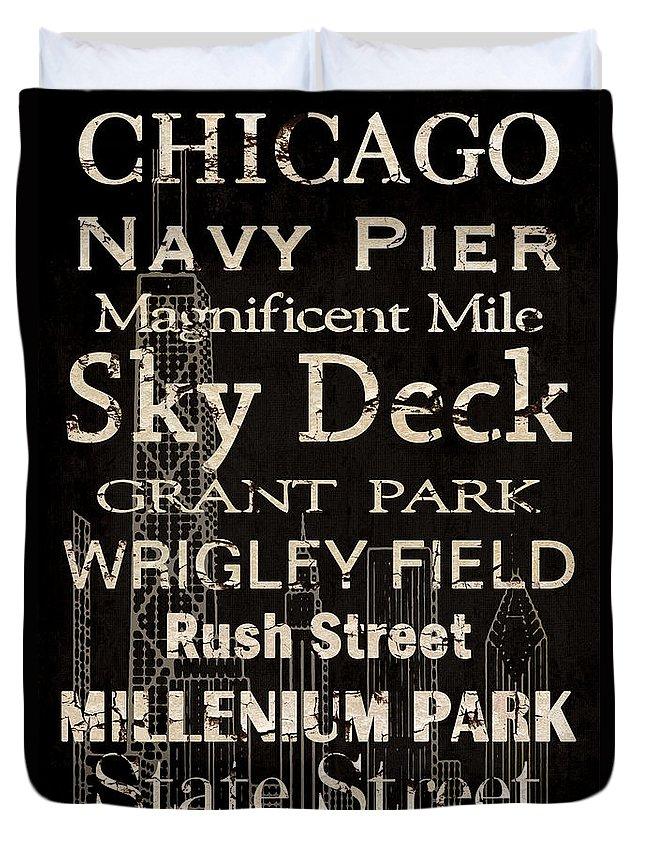 Vintage Chicago Duvet Covers