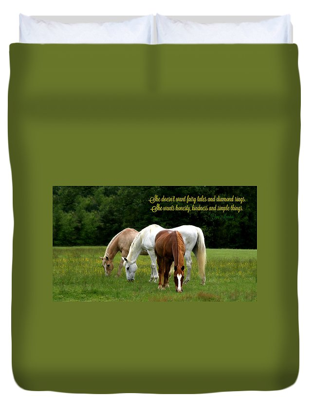Simple Duvet Cover featuring the photograph Simple Things by Tina Meador