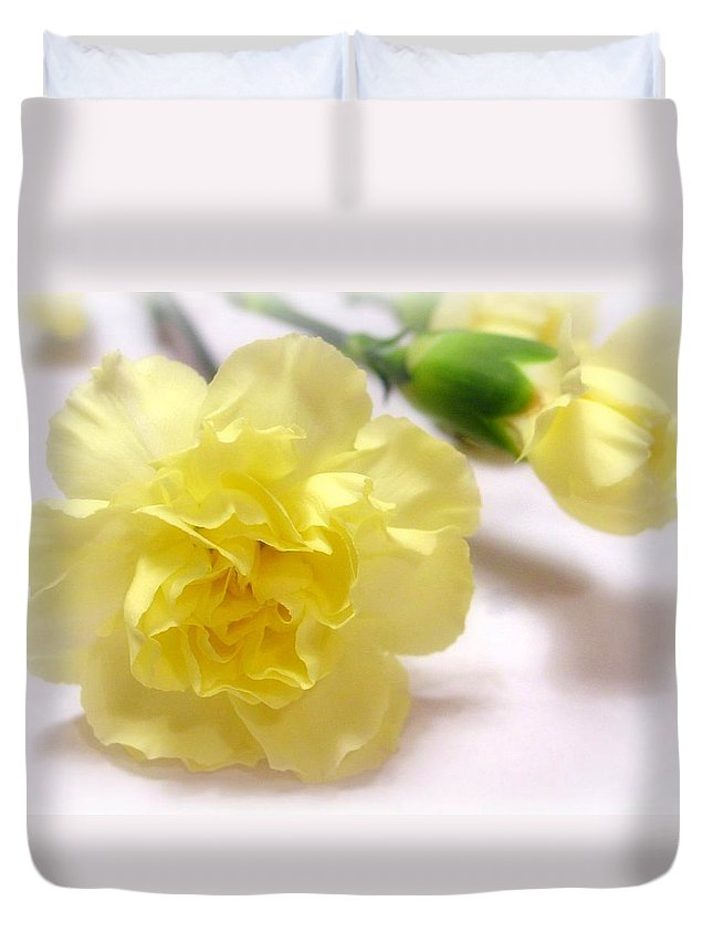 Carnation Duvet Cover featuring the photograph Simply Beautiful by Kathy Bucari
