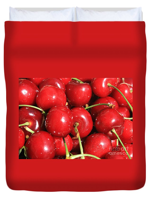 Cherries Duvet Cover featuring the photograph Simply Cherries by Carol Groenen