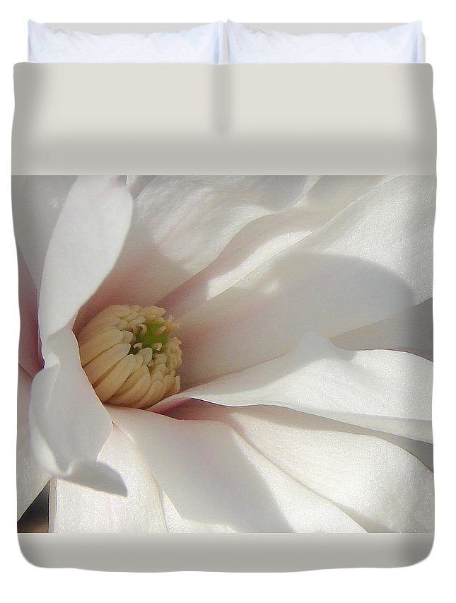 Duvet Cover featuring the photograph Simply White by Luciana Seymour