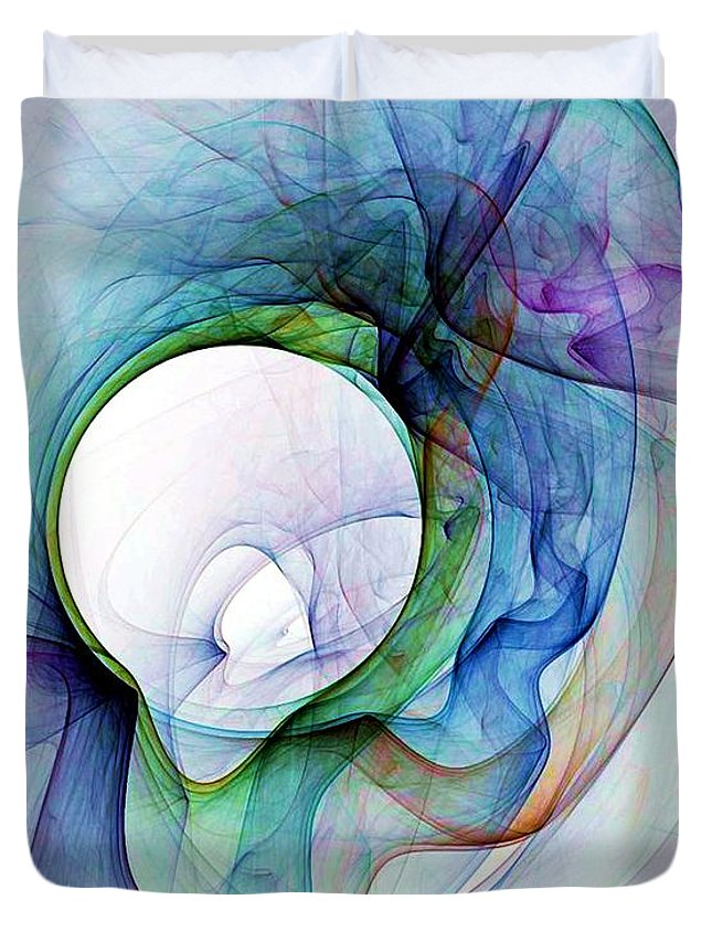 Smoke Duvet Cover featuring the digital art Simulated Colored Smoke by Ron Bissett