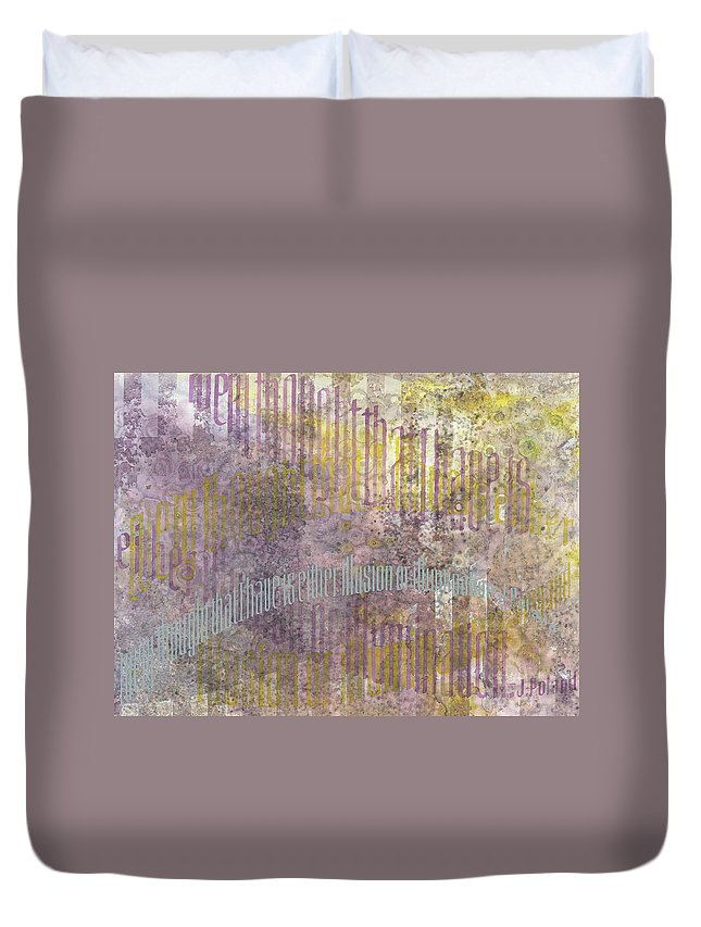 Calligraphy Duvet Cover featuring the painting Simultaneous Contrast by Sid Freeman