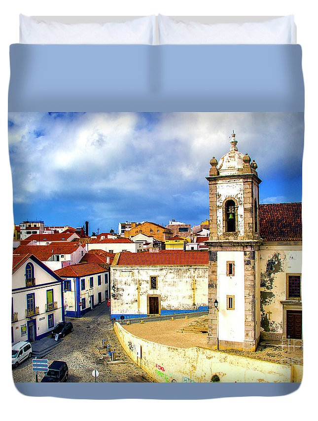 Sines Duvet Cover featuring the photograph Sines Portugal by Roberta Bragan