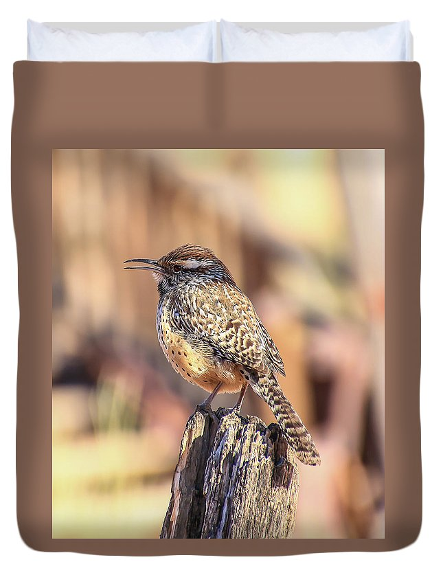 Bird Duvet Cover featuring the photograph Sing Away by Kelly Lemen