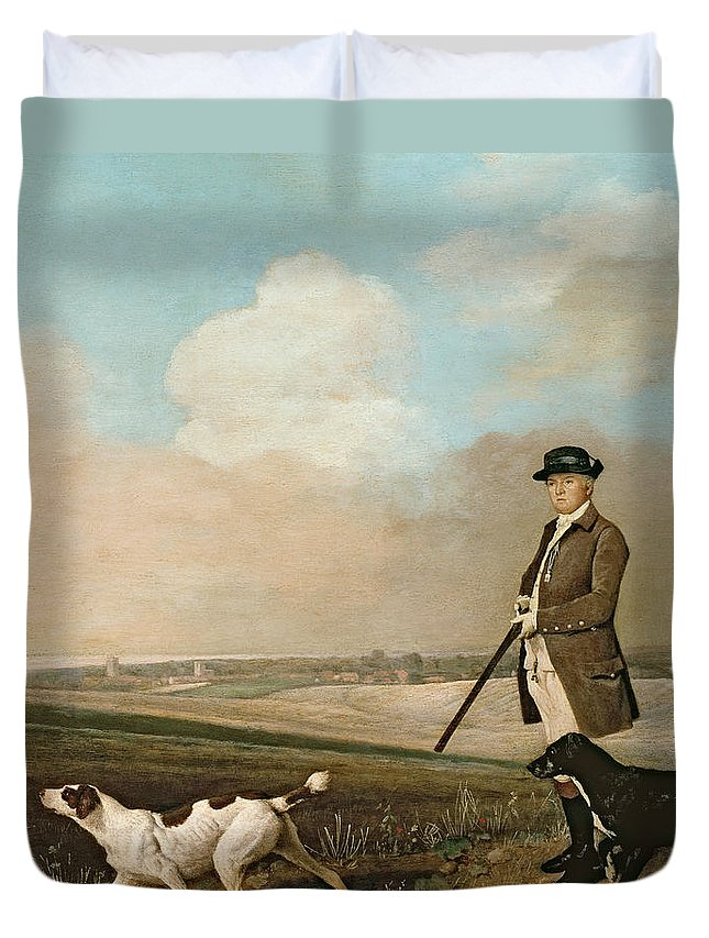 Sir Duvet Cover featuring the painting Sir John Nelthorpe by George Stubbs