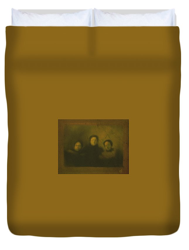 Three Duvet Cover featuring the photograph Sister Act by Jim Vance