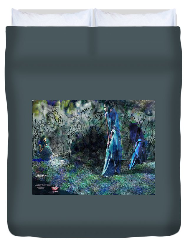 Sisters Of Fate Duvet Cover featuring the photograph Sisters Of Fate by Seth Weaver
