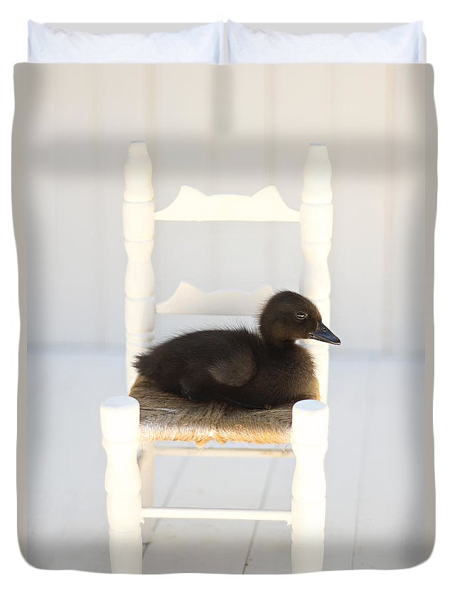 Duckling Duvet Cover featuring the photograph Sitting Duck by Amy Tyler