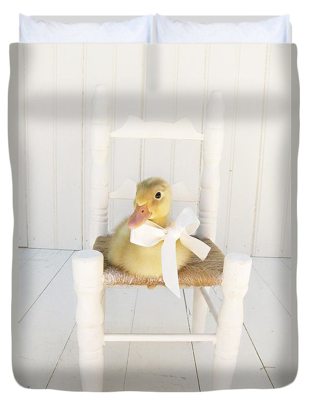 Duckling Duvet Cover featuring the photograph Sitting Pretty by Amy Tyler