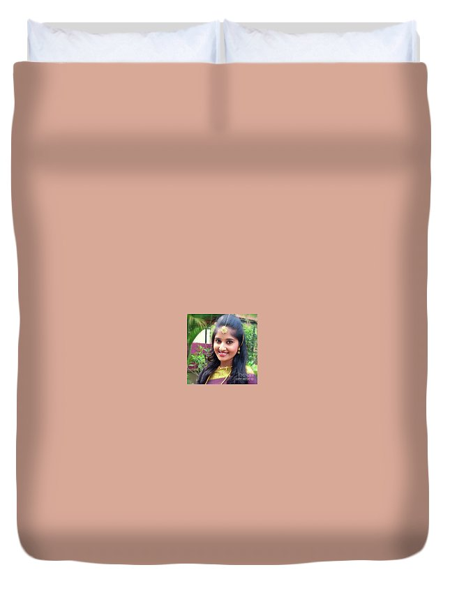 Siva's One And Only Baby Nisha Duvet Cover featuring the photograph Siva's One And Only Baby Nisha by Nirshanthiny Sivabalan