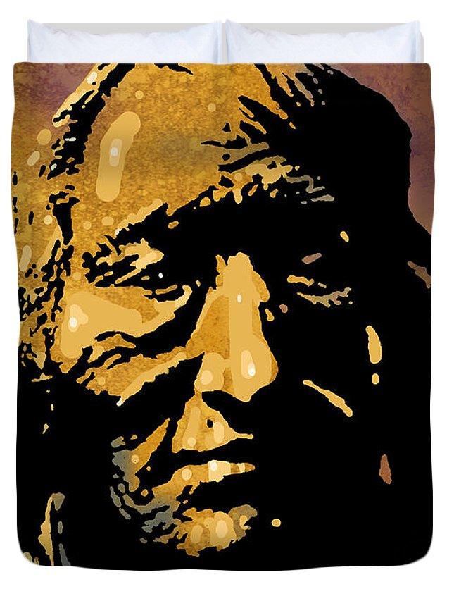 Native American Duvet Cover featuring the painting Skaleetehillemekuhm by Paul Sachtleben