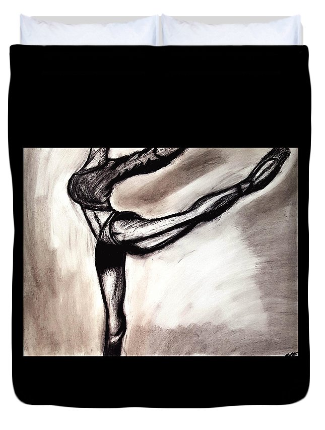 Body Duvet Cover featuring the drawing Sketch 2 by Eva Jones