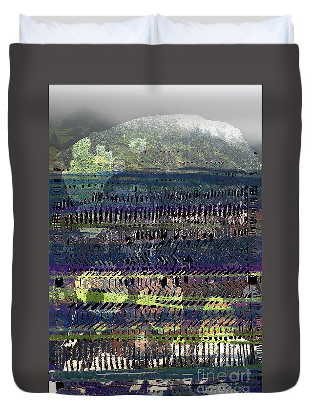Skiddaw Duvet Cover featuring the digital art Skidda by Andy Mercer
