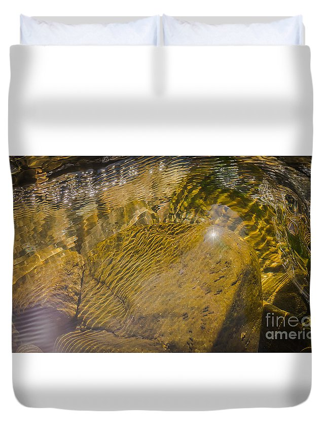 Landscape Duvet Cover featuring the photograph Skin River by Lyudmila Prokopenko