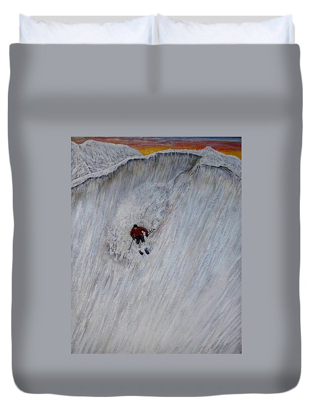 Landscape Duvet Cover featuring the painting Skitilthend by Michael Cuozzo