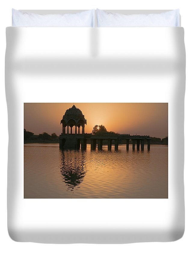 Yellow Duvet Cover featuring the photograph Skn 1374 Yellow Glow by Sunil Kapadia