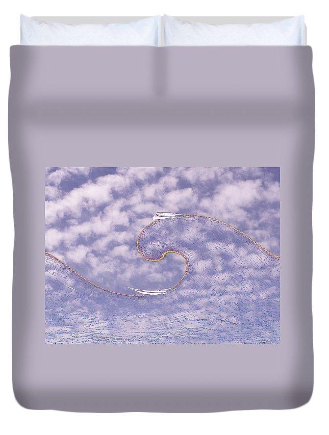 Sail Duvet Cover featuring the photograph Sky High Sail Surfin by Tim Allen