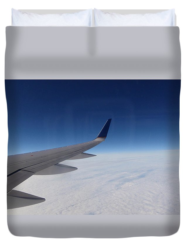 Sky Duvet Cover featuring the photograph Sky Is The Limit by Are Lund