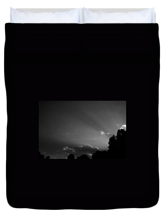 Sky Duvet Cover featuring the photograph Sky Streamers by Trish Hale