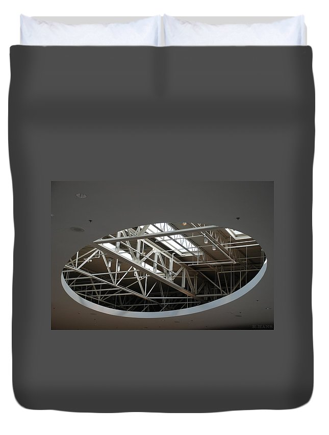 Ceiling Duvet Cover featuring the photograph Skylight Gurders by Rob Hans