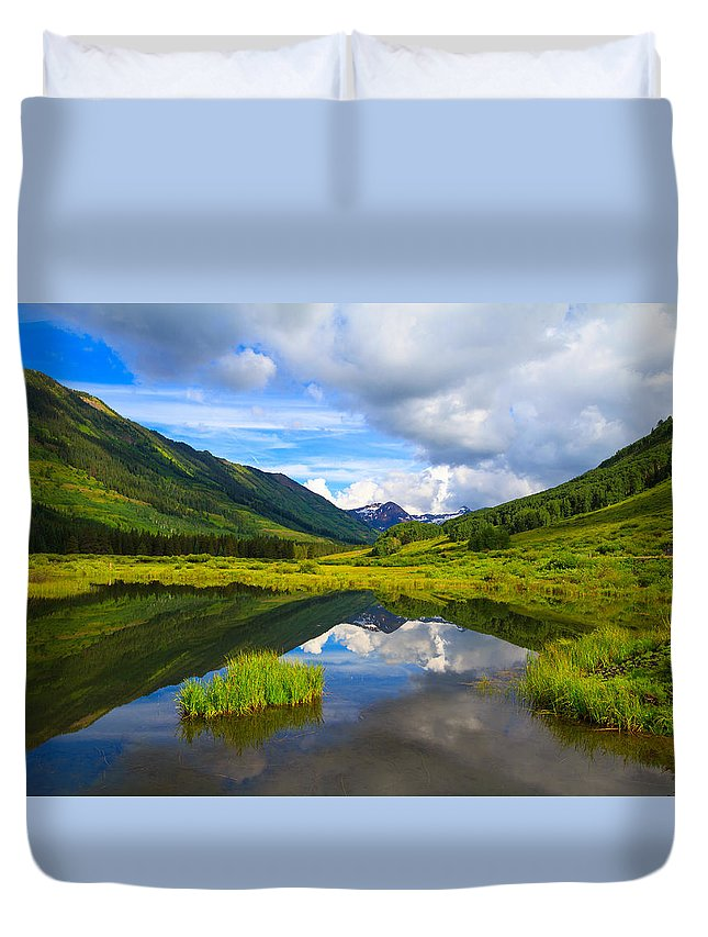 Slate River Duvet Cover featuring the photograph Slate River At Crested Butte Colorado by Tommy Brison