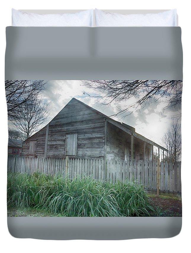 Slave Cottage Duvet Cover featuring the photograph Slave Cottage by Jessica Levant