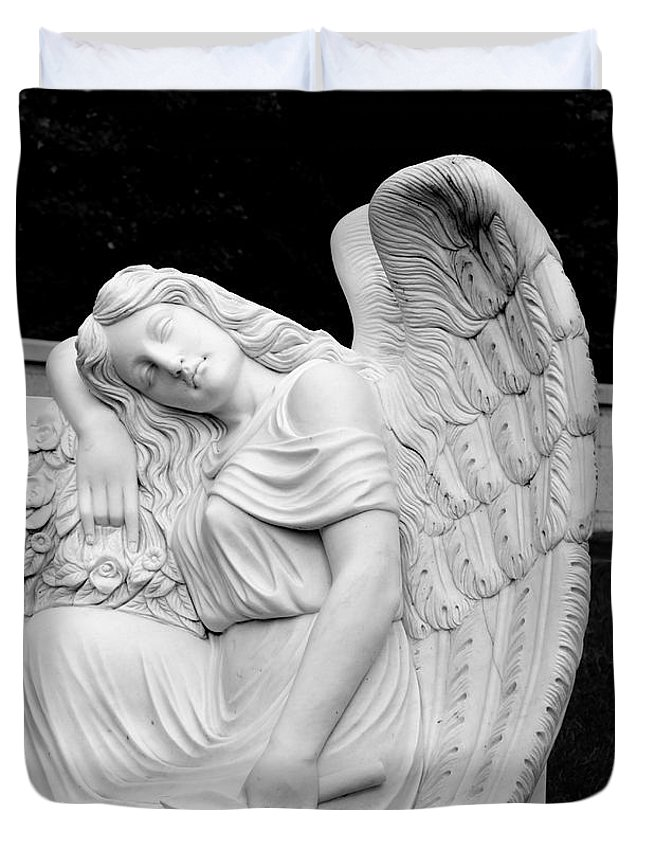 Angel Duvet Cover featuring the photograph Sleeping Angel by Jean Haynes