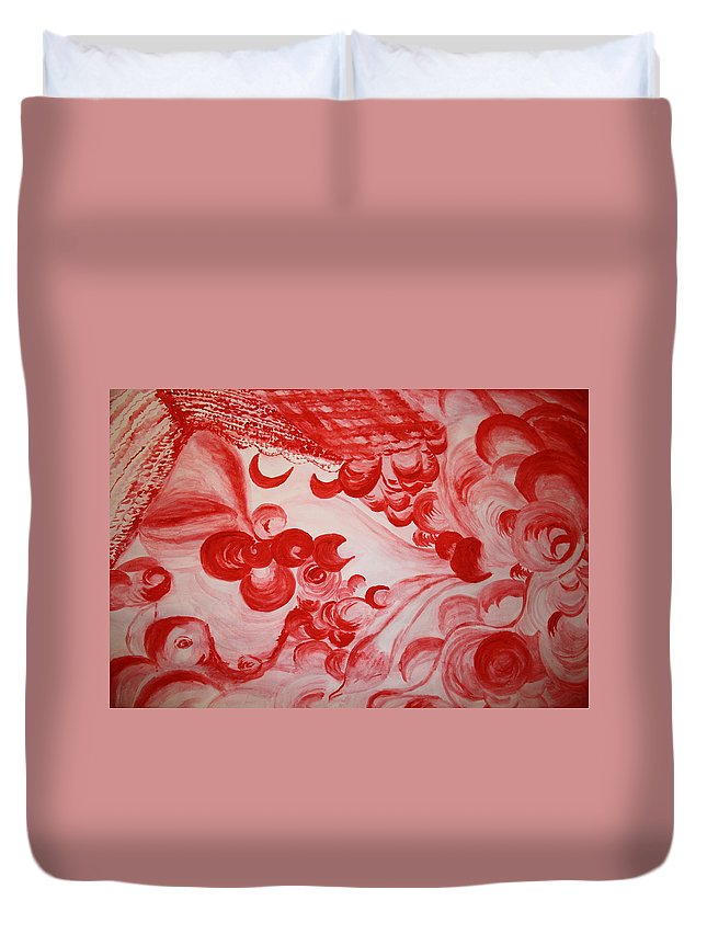 Gloria Ssali Duvet Cover featuring the painting Sleeping Beauty by Gloria Ssali