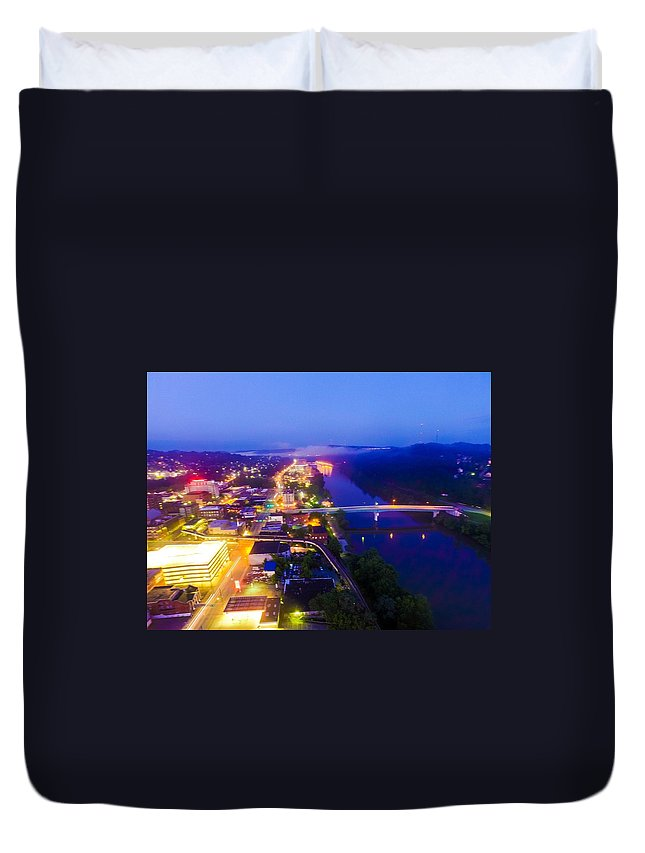 City Duvet Cover featuring the photograph Sleeping City by Tobias Hamrick