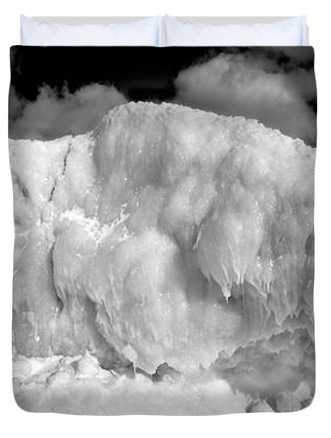 Photography Duvet Cover featuring the photograph Sleeping Ice Giant by Frederic A Reinecke