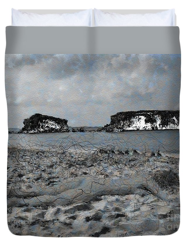 Nude Duvet Cover featuring the photograph Sleeping It Off by Dee Flouton