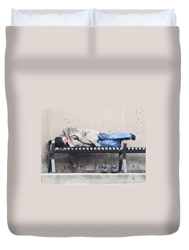 Sleeping Duvet Cover featuring the photograph Sleeping Lady by Angus Hooper Iii