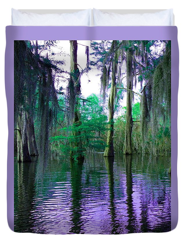 Bayou Duvet Cover featuring the photograph Sleepy Bayou by Gina Welch