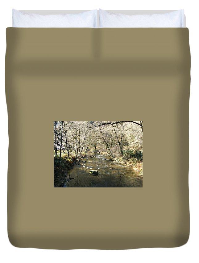 River Duvet Cover featuring the photograph Sleepy Creek by Shari Chavira
