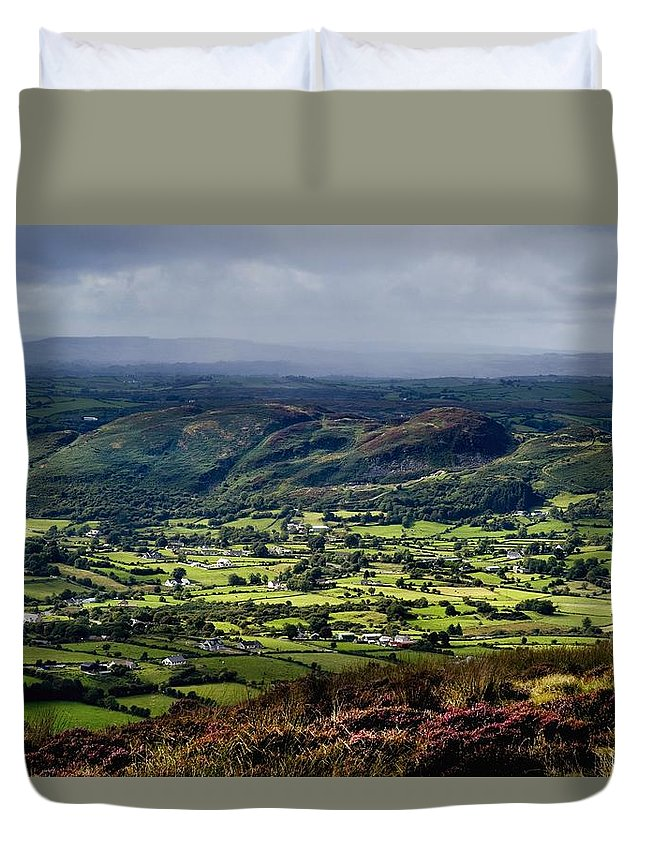 Beauty In Nature Duvet Cover featuring the photograph Slieve Gullion, Co. Armagh, Ireland by The Irish Image Collection
