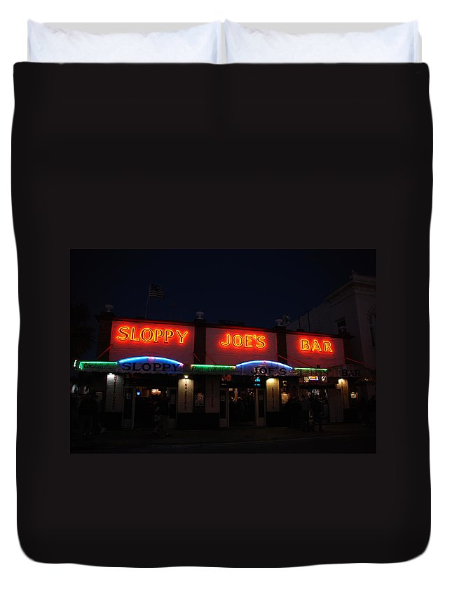 Photography Duvet Cover featuring the photograph Sloppy Joes By Night by Susanne Van Hulst
