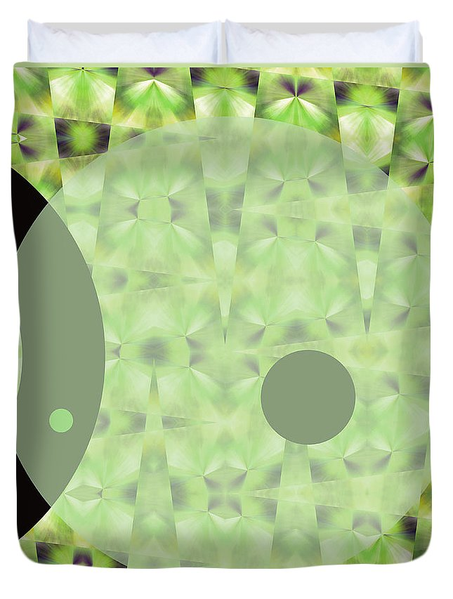 Abstract Duvet Cover featuring the digital art Slow Fade by Ruth Palmer