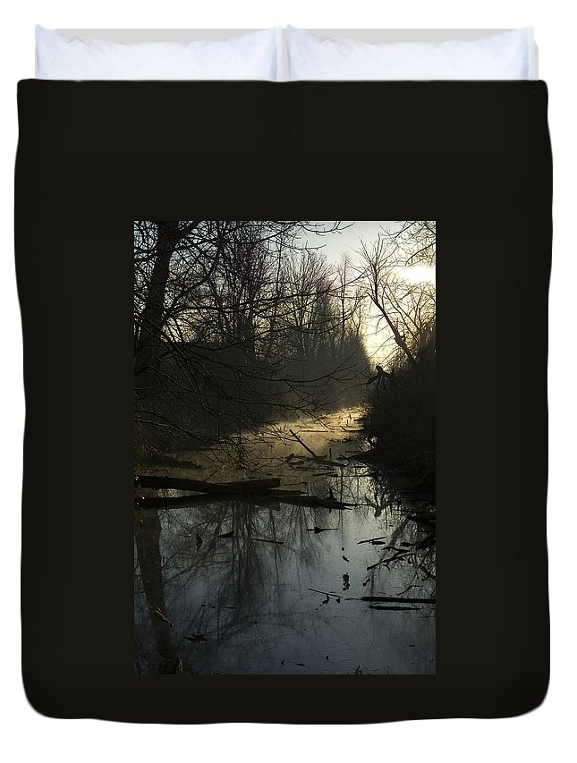 Water Duvet Cover featuring the photograph Slue by Sara Stevenson