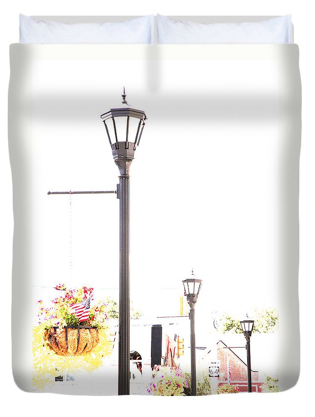 Small Town Duvet Cover featuring the photograph Small Town by Amanda Barcon