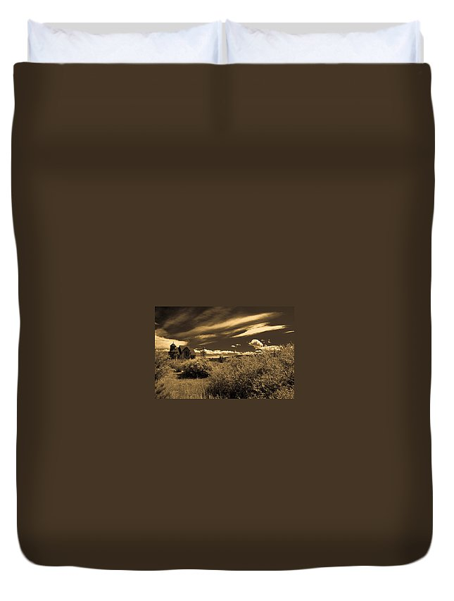 Church Duvet Cover featuring the photograph Small Town Church by Marilyn Hunt