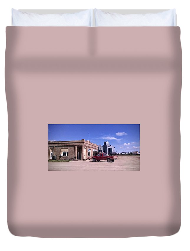 Rural Duvet Cover featuring the photograph Small Town by Justin Parkinson