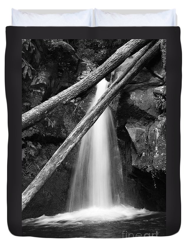Waterfall Duvet Cover featuring the photograph Small Waterfall by Gaspar Avila